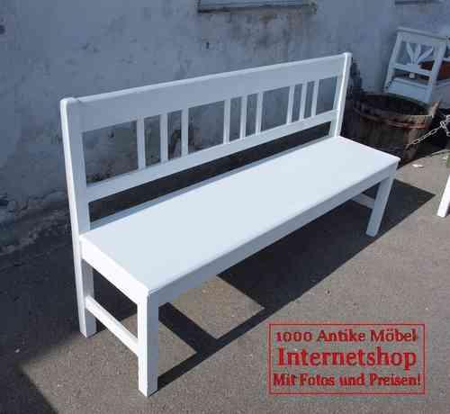 160 Cm Weiße Shabby Chic Bank Gartenbank Fichte Sitzbank