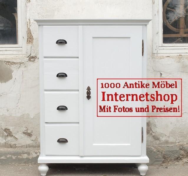 antike weisser shabby chic brotschrank almer k chenschrank. Black Bedroom Furniture Sets. Home Design Ideas