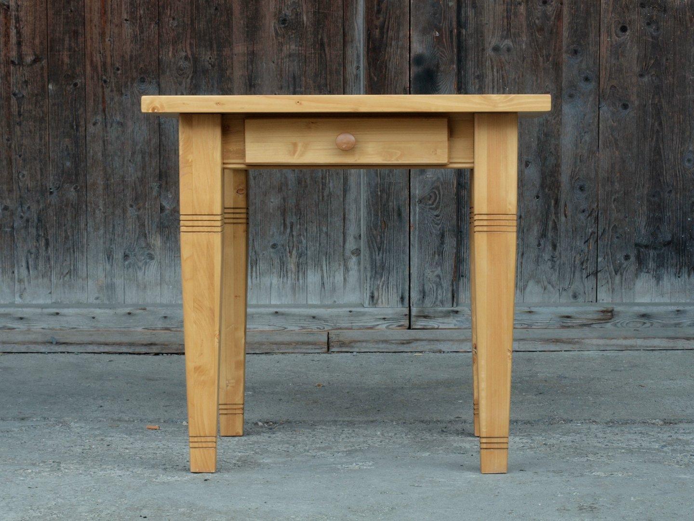 Esstisch Tisch Massivholz Fichte 80 X 80 Cm Neuanfertigung Antike
