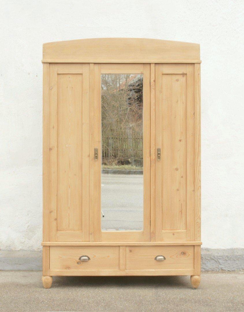 Alter antiker dreit riger kleiderschrank mit spiegel - Schlafzimmerschrank mit spiegel ...
