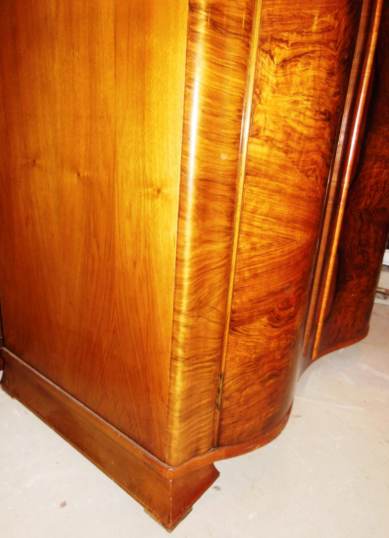Art-Deco Kleiderschrank Nußbaum England um 1920/25 - Antik Möbel ...