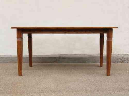 Esstisch Tisch Massivholz Eiche 160 X 90 Cm Quadratische Füße Neuanfertigung