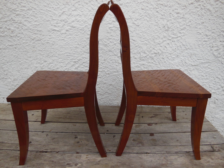 Satz Kinderstühle Massiv Kirsche Biedermeier-Stil Kirsch-Stühle ...