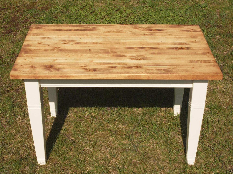esstisch tisch massivholz fichte 120 x 80 cm nachbau antike m bel und beschl ge. Black Bedroom Furniture Sets. Home Design Ideas