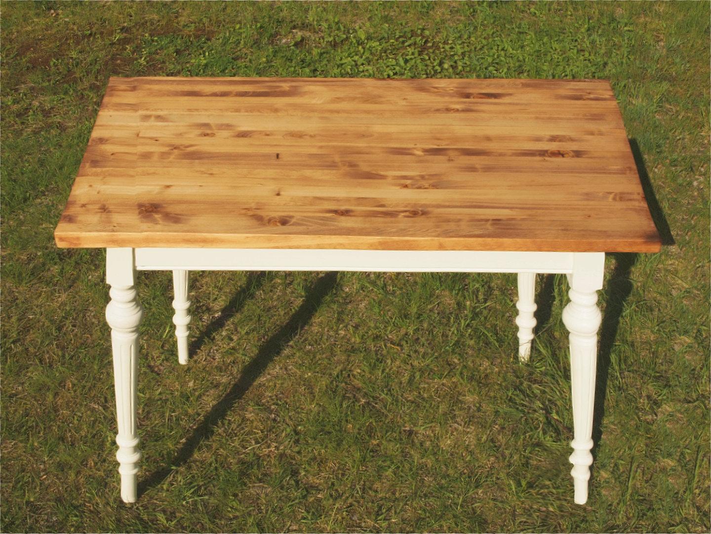 Gemeinsame Esstisch Tisch Massivholz Fichte 120 x 80 cm Nachbau - Antik Möbel &XC_98