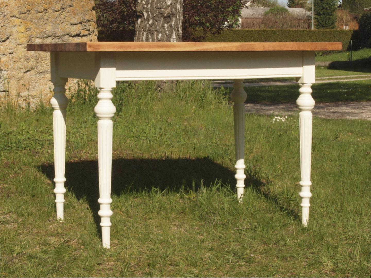 esstisch tisch massivholz fichte 120 x 80 cm nachbau antik m bel antiquit ten alling bei. Black Bedroom Furniture Sets. Home Design Ideas