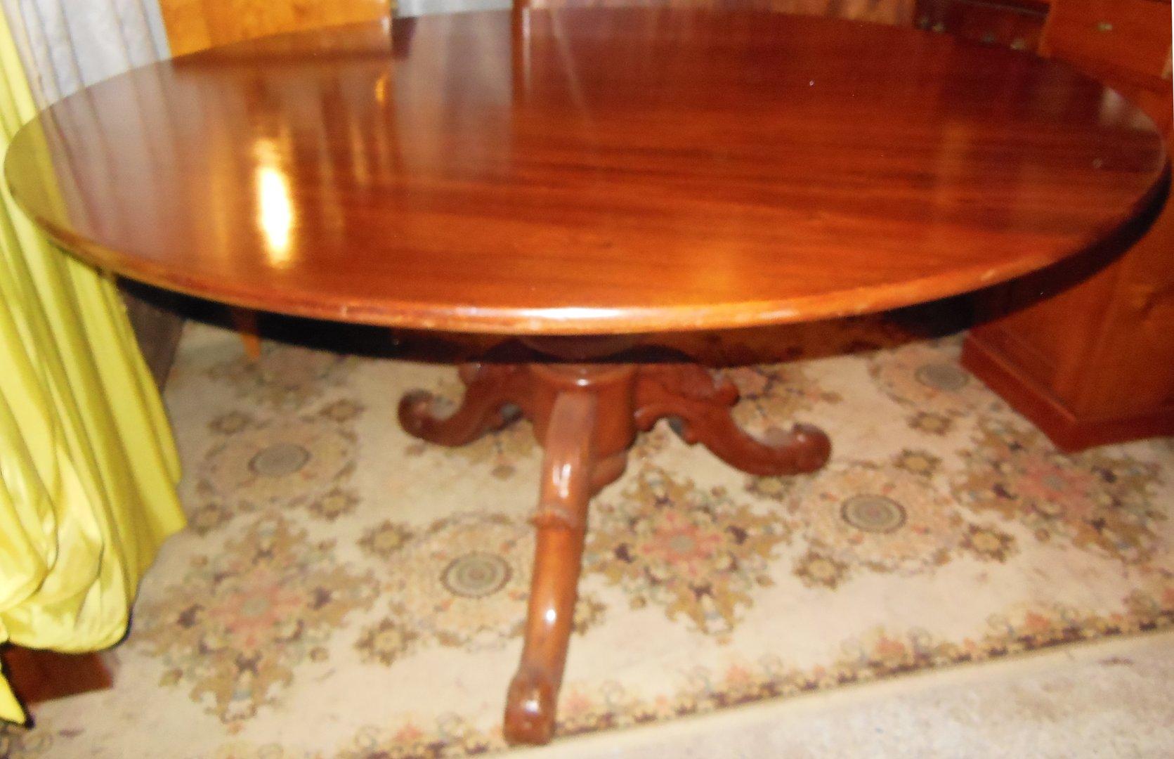 Runder Esstisch Mahagoni-massiv-Esstisch-Jugendstil-Tisch