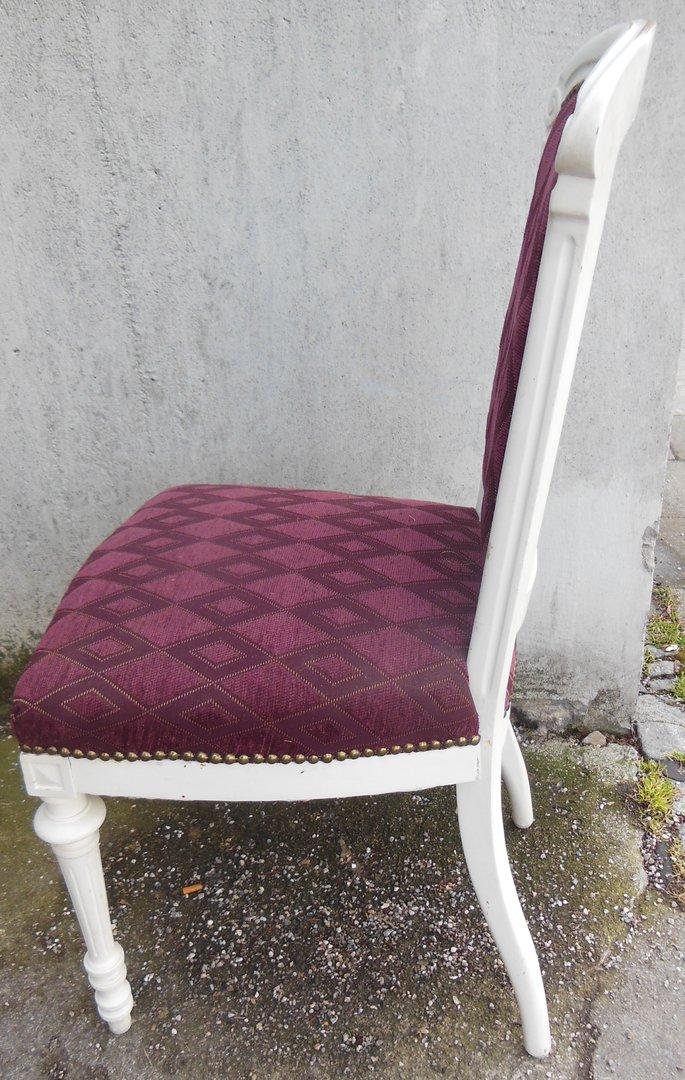 Shabby chic stuhl weisser stuhl massivholz stuhl frisch for Frisch kleiderstange shabby