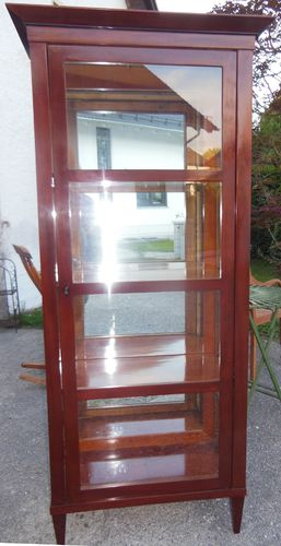 biedermeier stil mahagoni vitrine voll verspiegelte vitrine mahagoni vitrine
