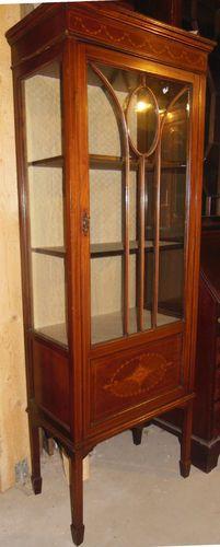 englische mahagoni vitrine jugendstil vitrine massivholz vitrine um 1900 10